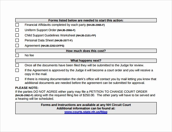 Child Support Agreement Template Best Of Free 10 Sample Child Supa10 Sample Child Support