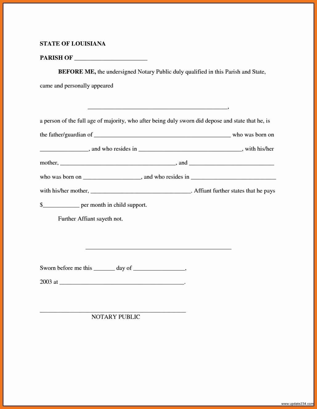 Child Support Agreement Template Fresh 4 5 Child Support Agreement Letter