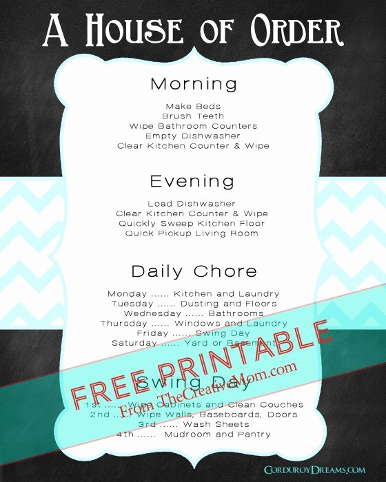 Chore List for Adults Elegant Free Printable Chore Charts for Kids and Adults the