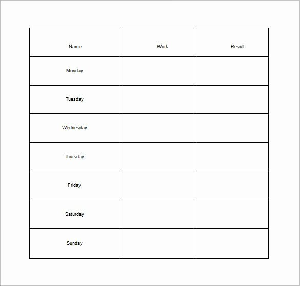 how to make good schedule using 5 chore list template types