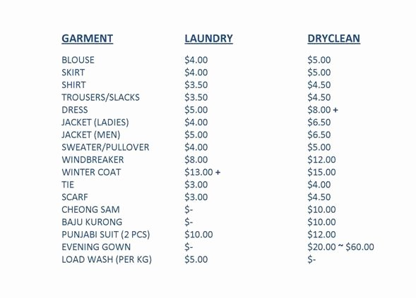 Cleaning Services Price List Template Beautiful Cleaning Services Price List Template