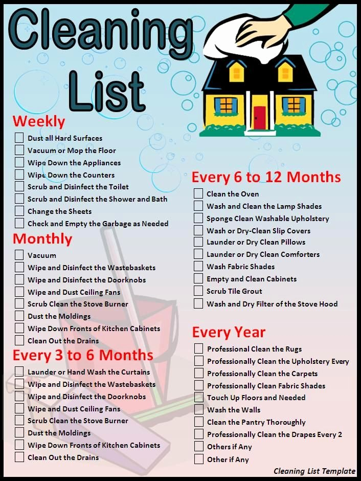 Cleaning Services Price List Template Best Of House Cleaning Checklist