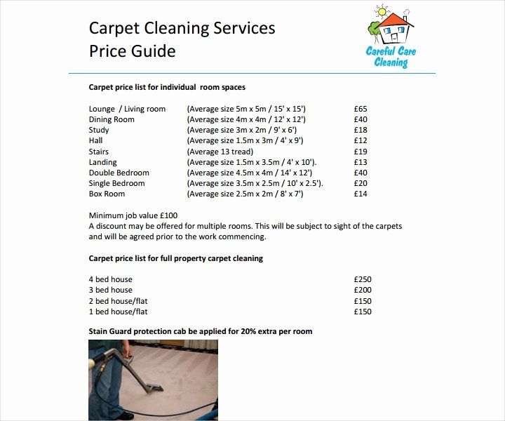 Cleaning Services Price List Template Lovely 8 Cleaning Price List Templates Free Word Pdf Excel