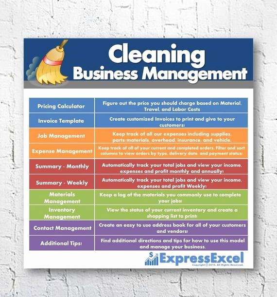 Cleaning Services Price List Template Lovely Cleaning Business Management software Job Pricing Calculator