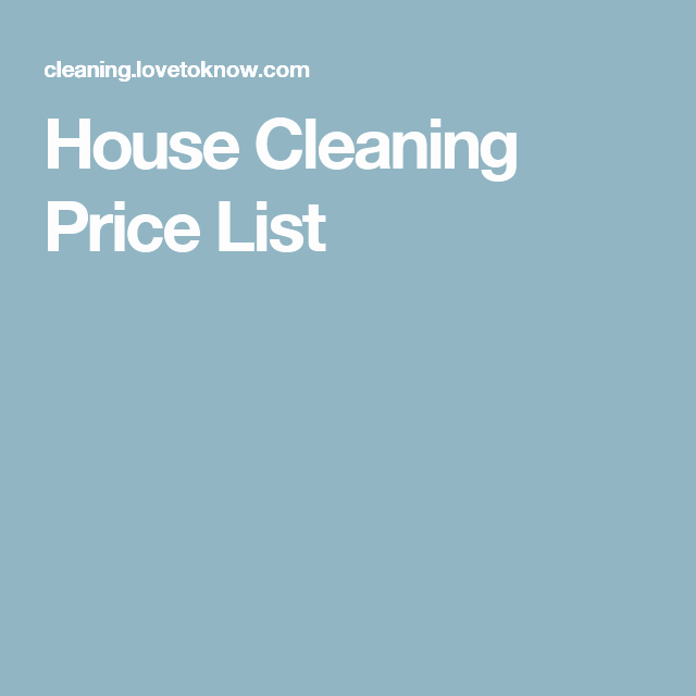 Cleaning Services Prices List Inspirational House Cleaning Price List Me