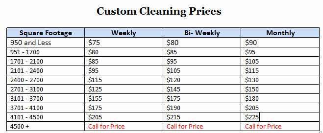 Cleaning Services Prices List Unique Professional Home & Fice Cleaning Services
