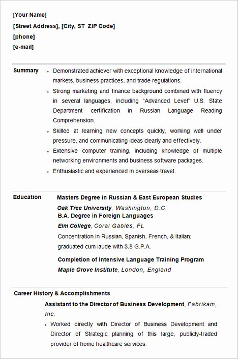 College Graduate Resume Template Awesome How to Write College Admission Resume