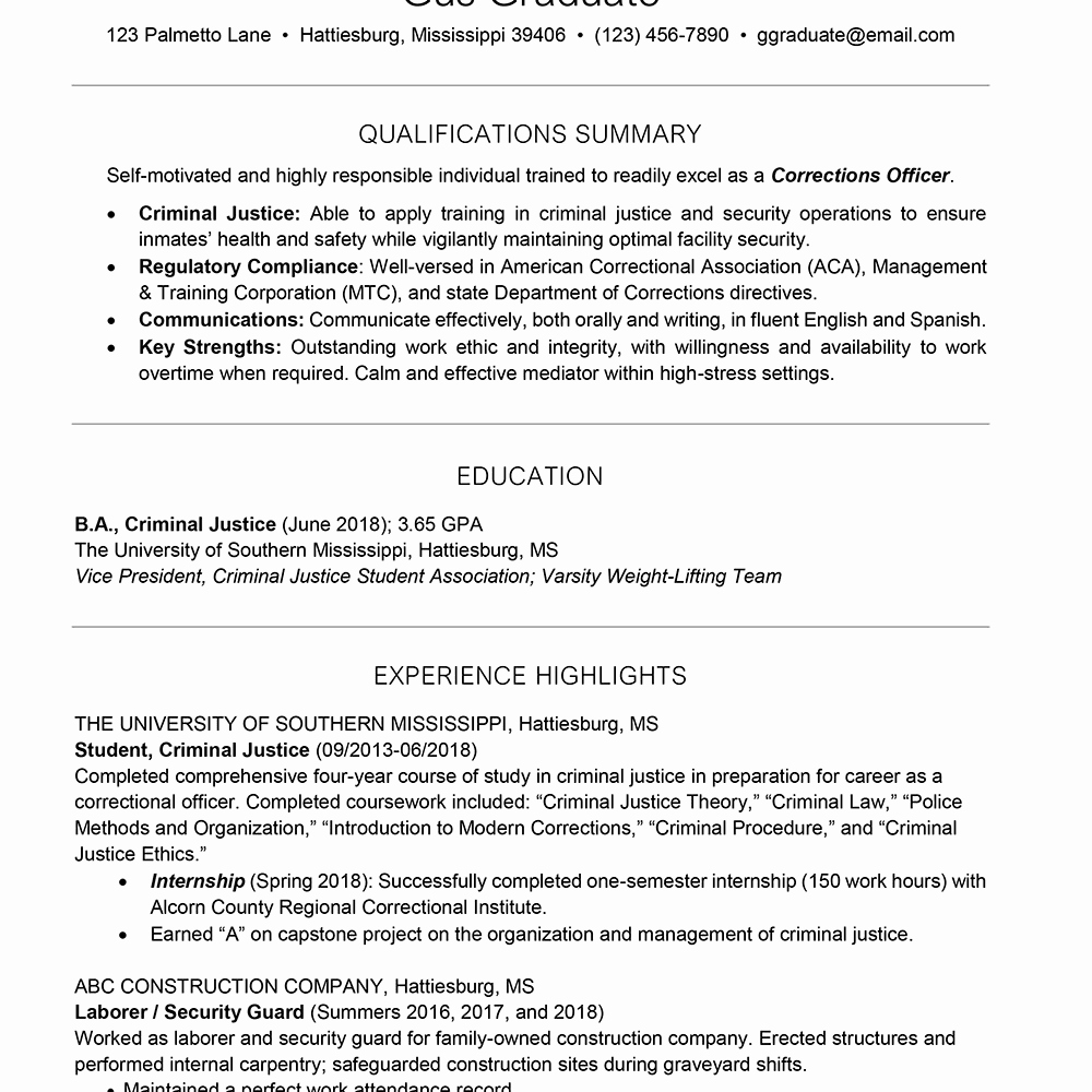 College Graduate Resume Template Beautiful College Resume Template for Students and Graduates