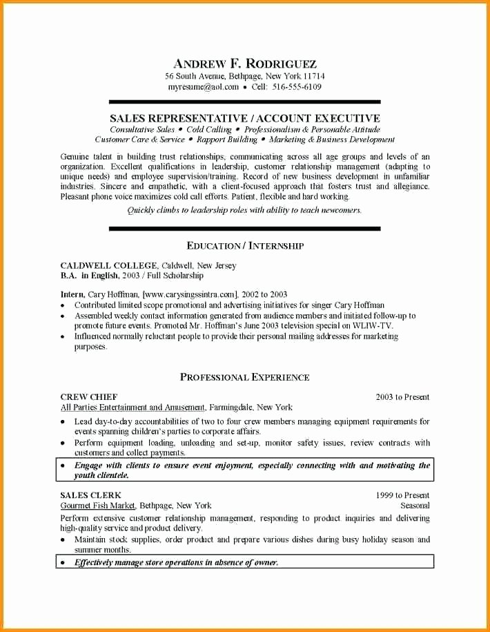 College Graduate Resume Template Elegant 9 10 Recent College Grad Resume Sample