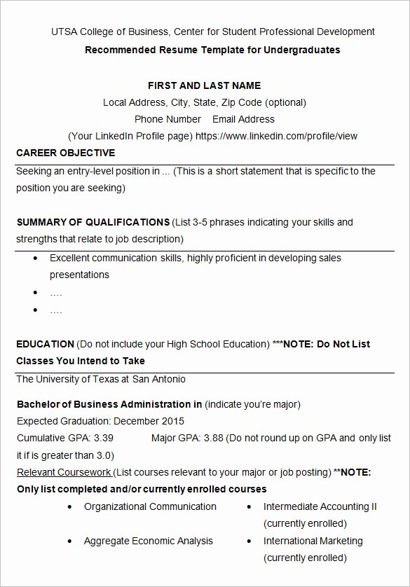 College Graduate Resume Template Fresh 24 Best Student Sample Resume Templates Wisestep