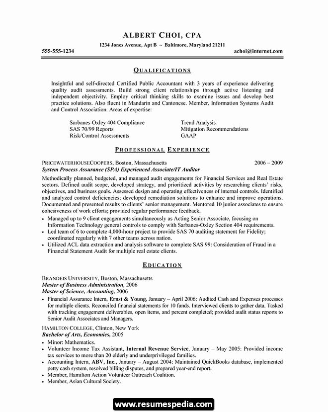 College Graduate Resume Template Inspirational Accountant Lamp Picture Accounting Resume Samples