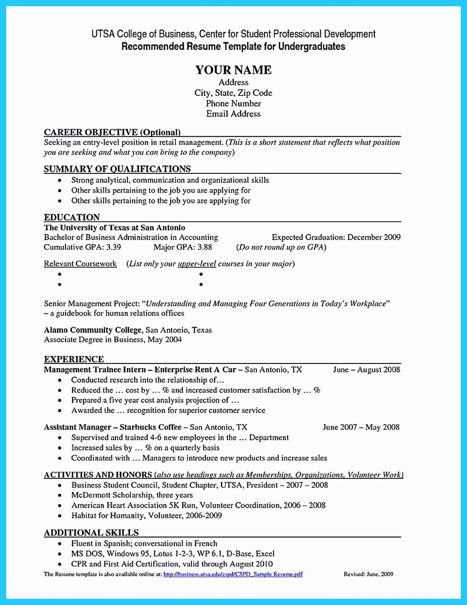 College Graduate Resume Template New Best Current College Student Resume with No Experience