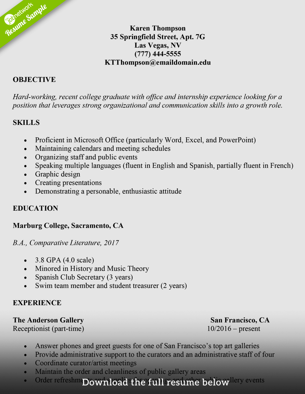 College Graduate Resume Template New How to Write A College Student Resume with Examples