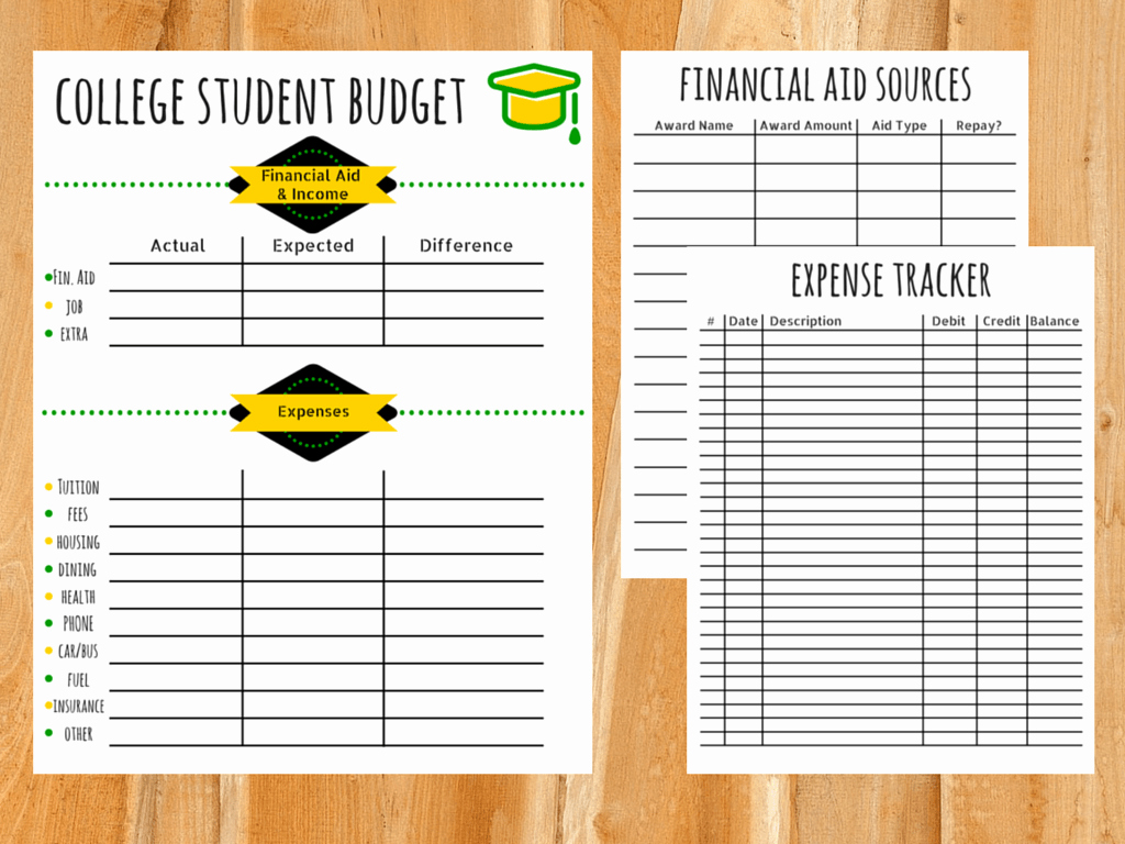 College Student Budget Template Elegant College Bud Template Free Printable for Students