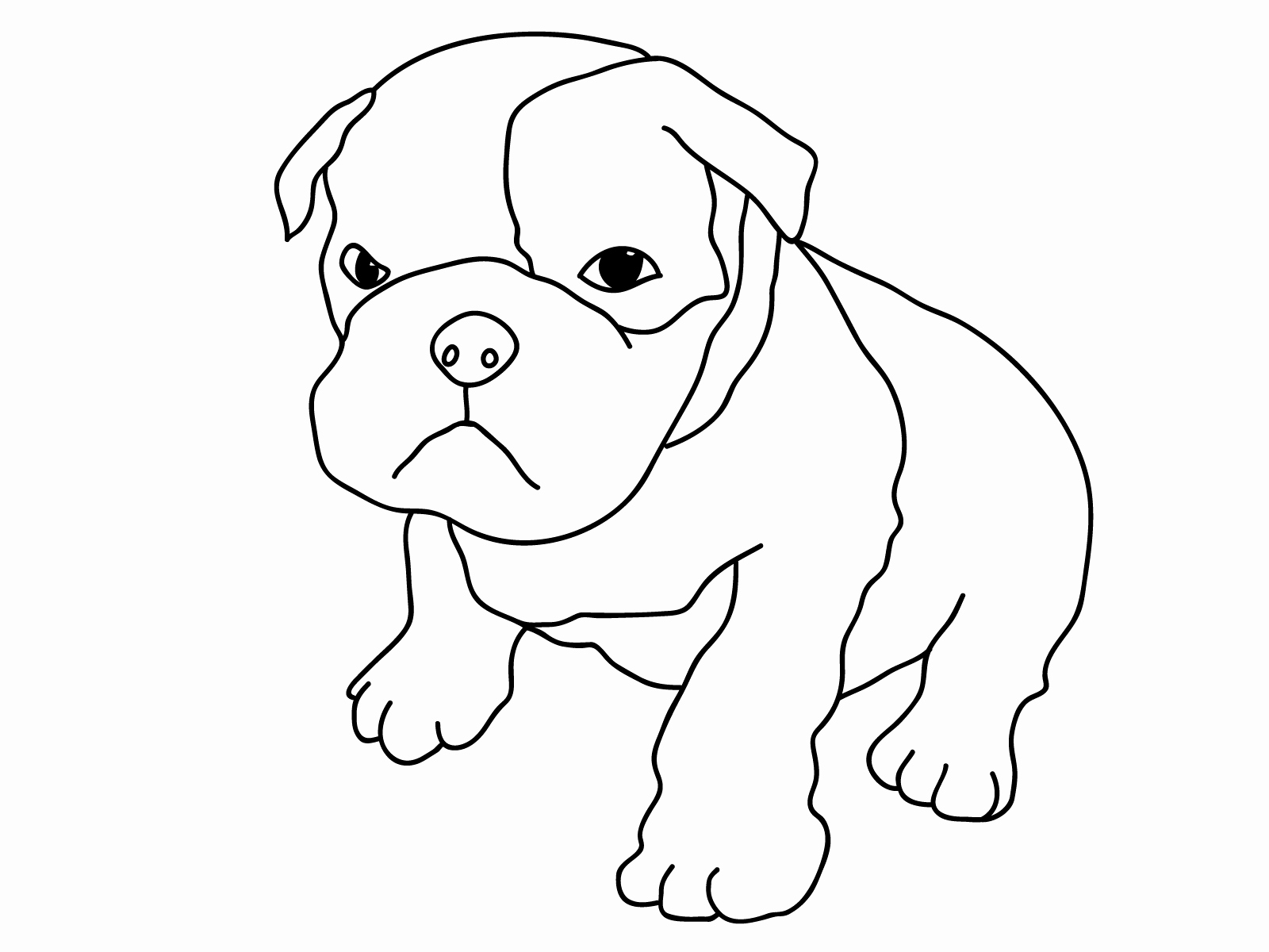 Coloring Pages Of Puppies Awesome Free Printable Dog Coloring Pages for Kids