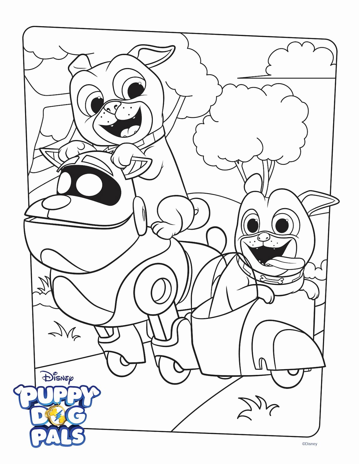 Coloring Pages Of Puppies New Puppy Dog Pals Coloring Page Activity