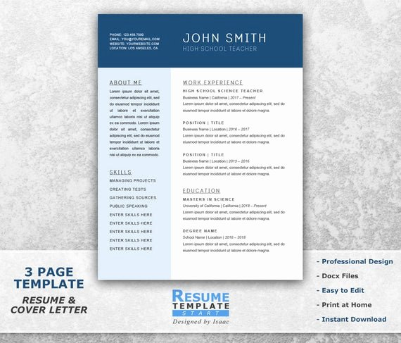 Combination Resume Template Word Beautiful Chronological Resume Template Word Bination Resume
