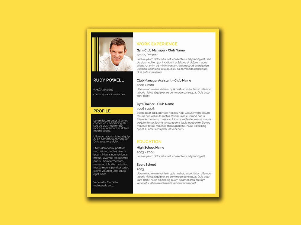 Combination Resume Template Word Lovely Free Stylish Resume Template with Black and Yellow Color