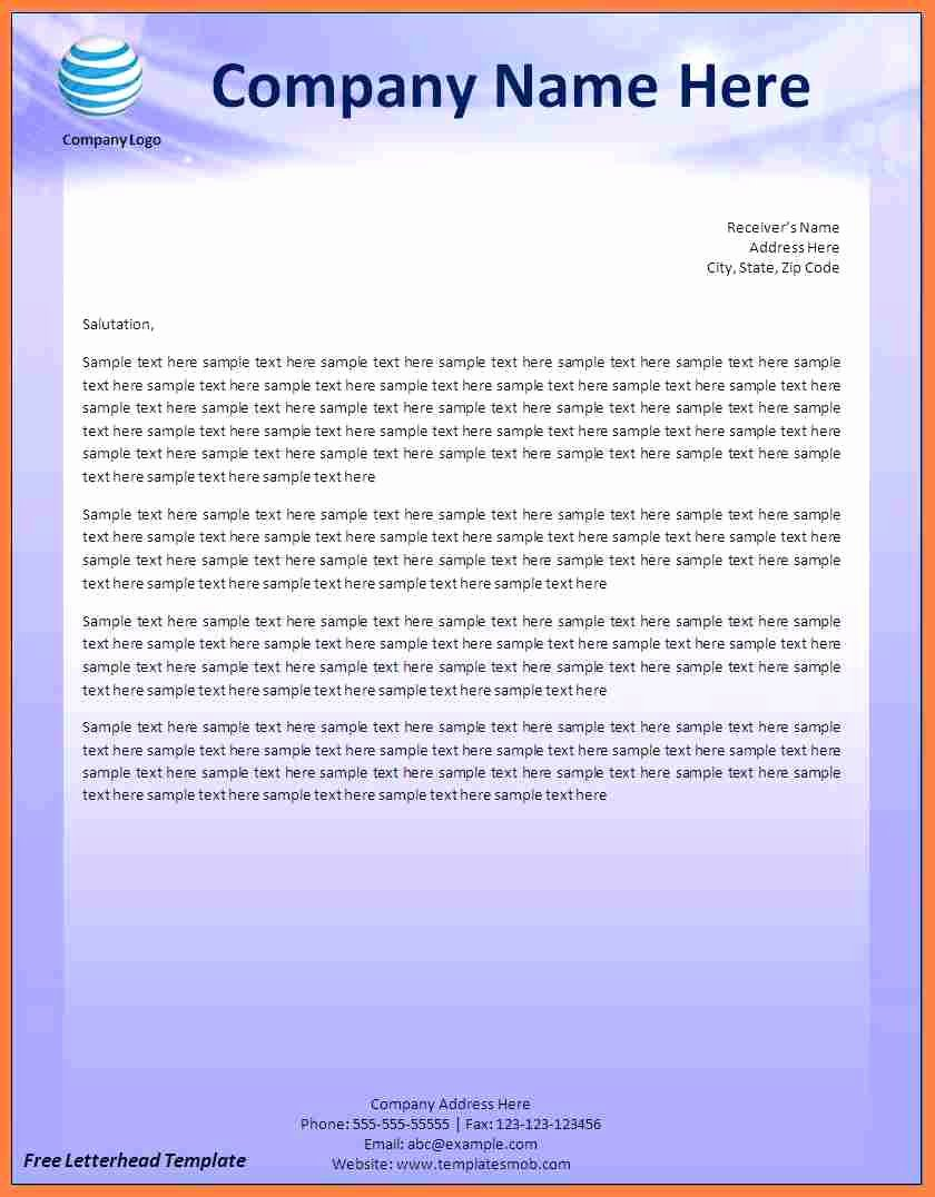 Company Letterhead Template Word Beautiful 12 Pany Letterhead Templates Word