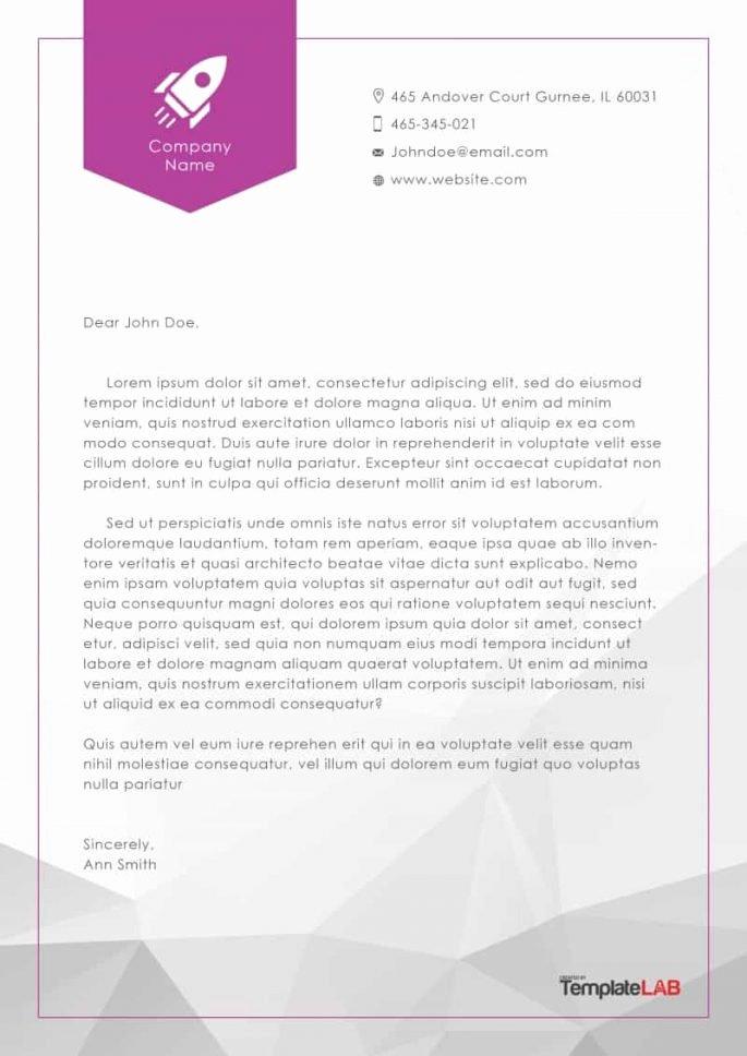 Company Letterhead Template Word Best Of Ficial Letterhead Templates