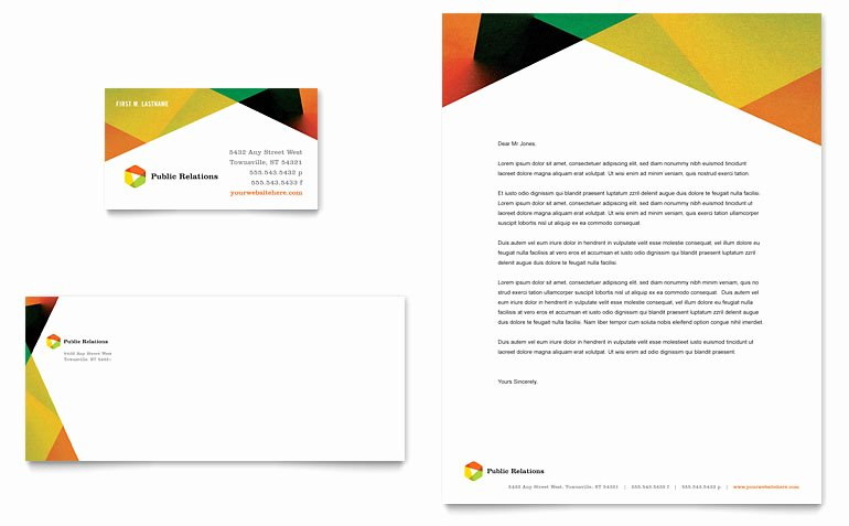 Company Letterhead Template Word Best Of Public Relations Pany Business Card & Letterhead