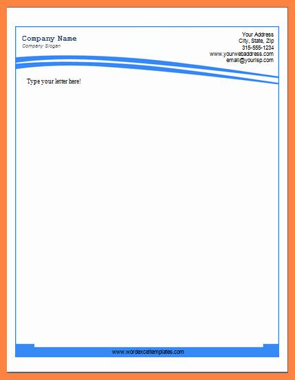 Company Letterhead Template Word Elegant 5 Letterhead Template Doc