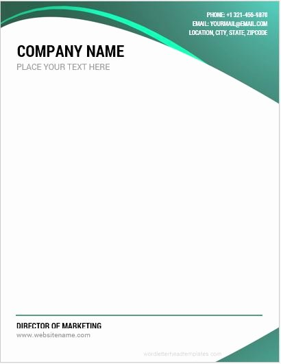 Company Letterhead Template Word Fresh 10 Best Pany Letterhead Templates Word