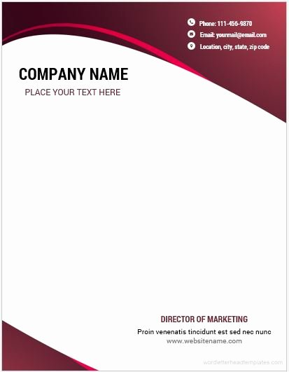 Company Letterhead Template Word Luxury 10 Best Letterhead Templates Word 2007 format