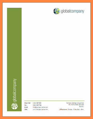 Company Letterhead Template Word New 10 Ms Word Letterhead Template