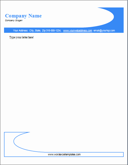 Company Letterhead Template Word New Word Letterhead Template