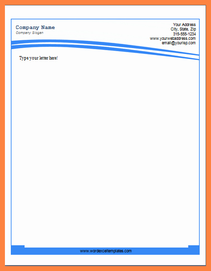 Company Letterhead Template Word Unique 6 Microsoft Word Letterhead Templates