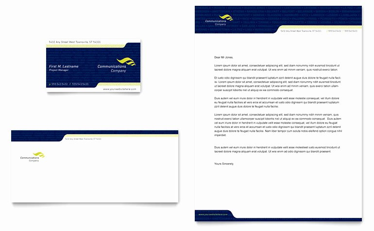 Company Letterhead Template Word Unique Global Munications Pany Business Card & Letterhead