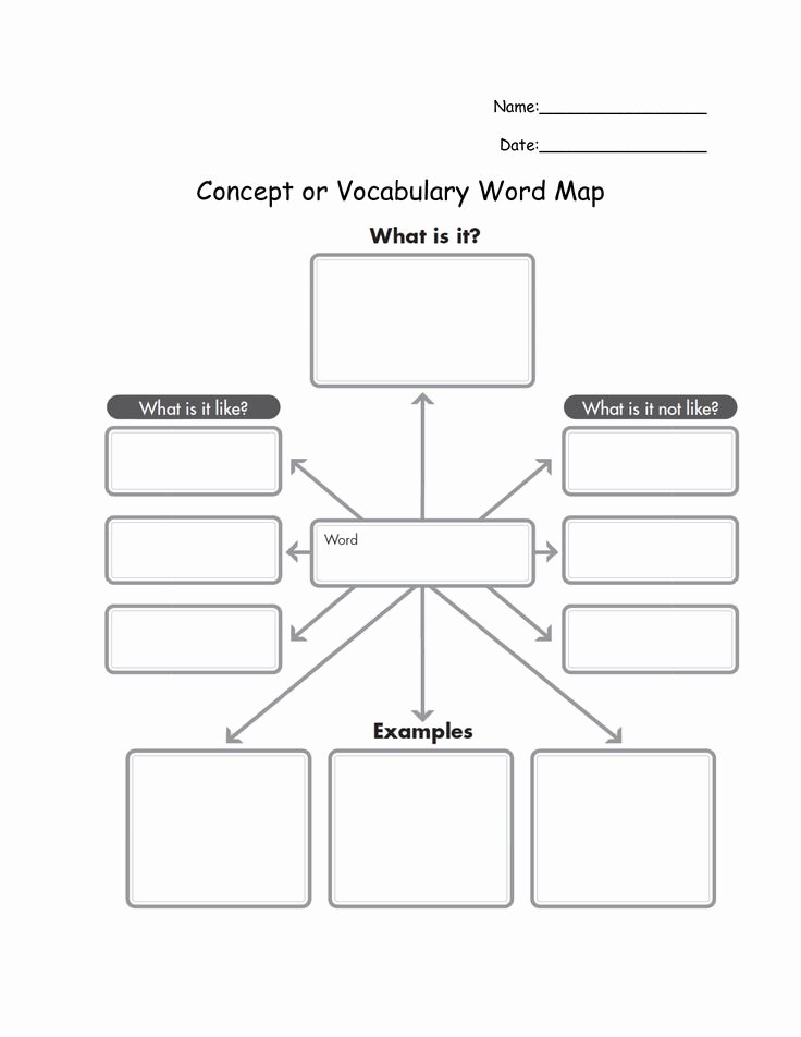 Concept Map Template Word Beautiful Mind Map Template for Word