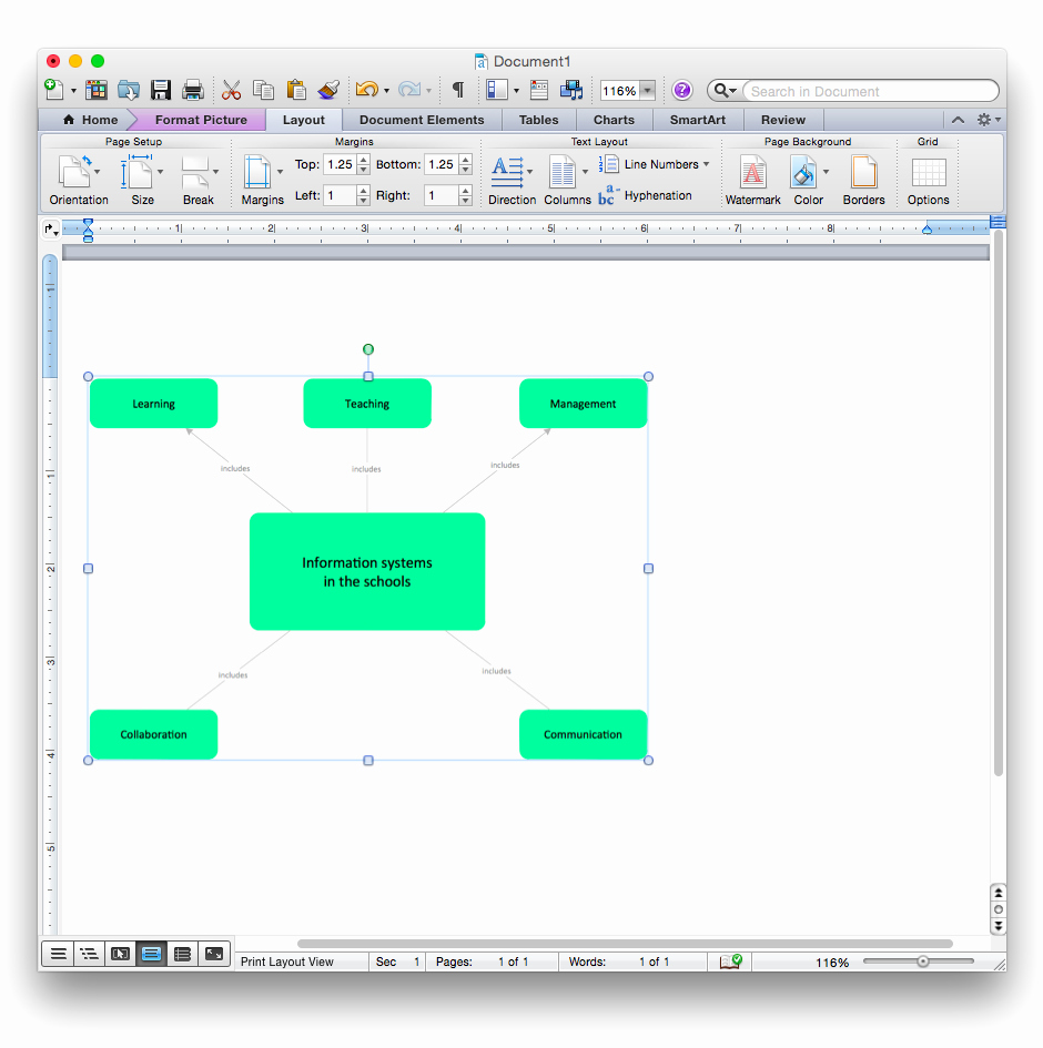 Concept Map Template Word Best Of Add A Concept Map to A Ms Word Document Conceptdraw Helpdesk