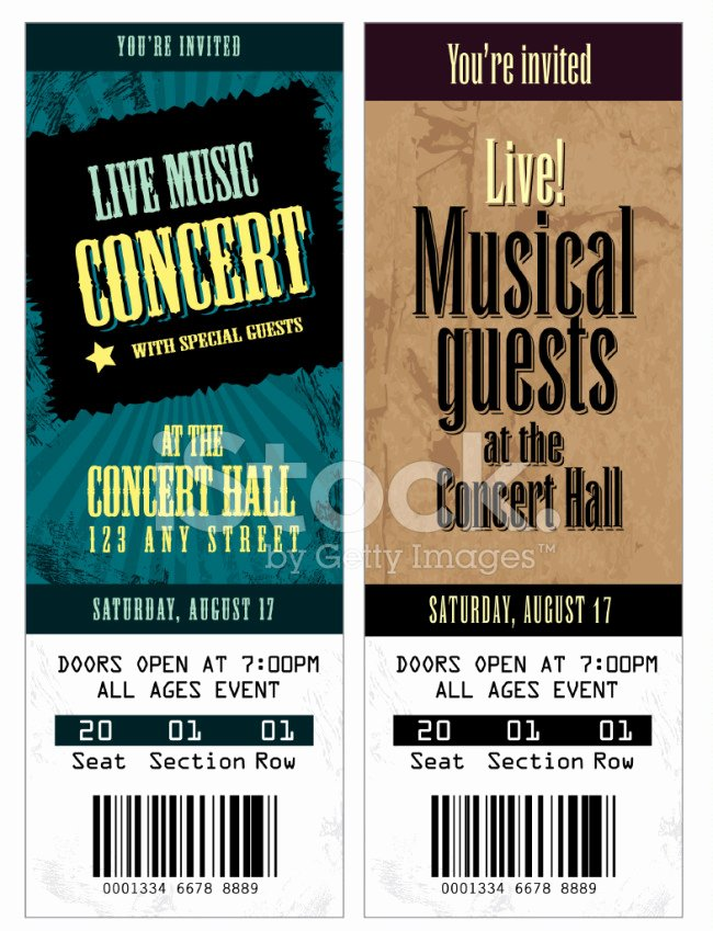 Concert Ticket Template Free Beautiful 26 Cool Concert Ticket Template Examples for Your event