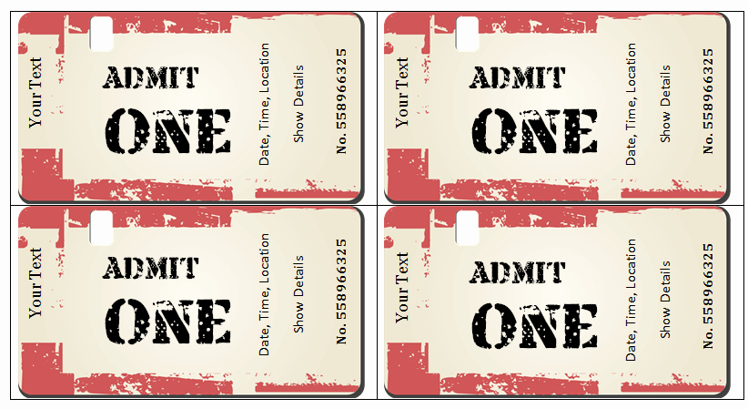 Concert Ticket Template Free Beautiful 6 Ticket Templates for Word to Design Your Own Free Tickets