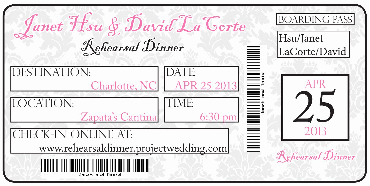 Concert Ticket Template Free Beautiful Diy Travel Invitations