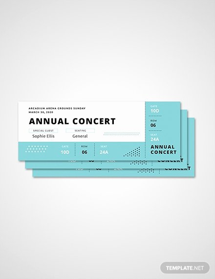 Concert Ticket Template Free Beautiful Free Ticket Templates Download Ready Made