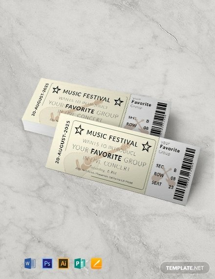 Concert Ticket Template Free Best Of 439 Free Ticket Templates Word Psd Indesign