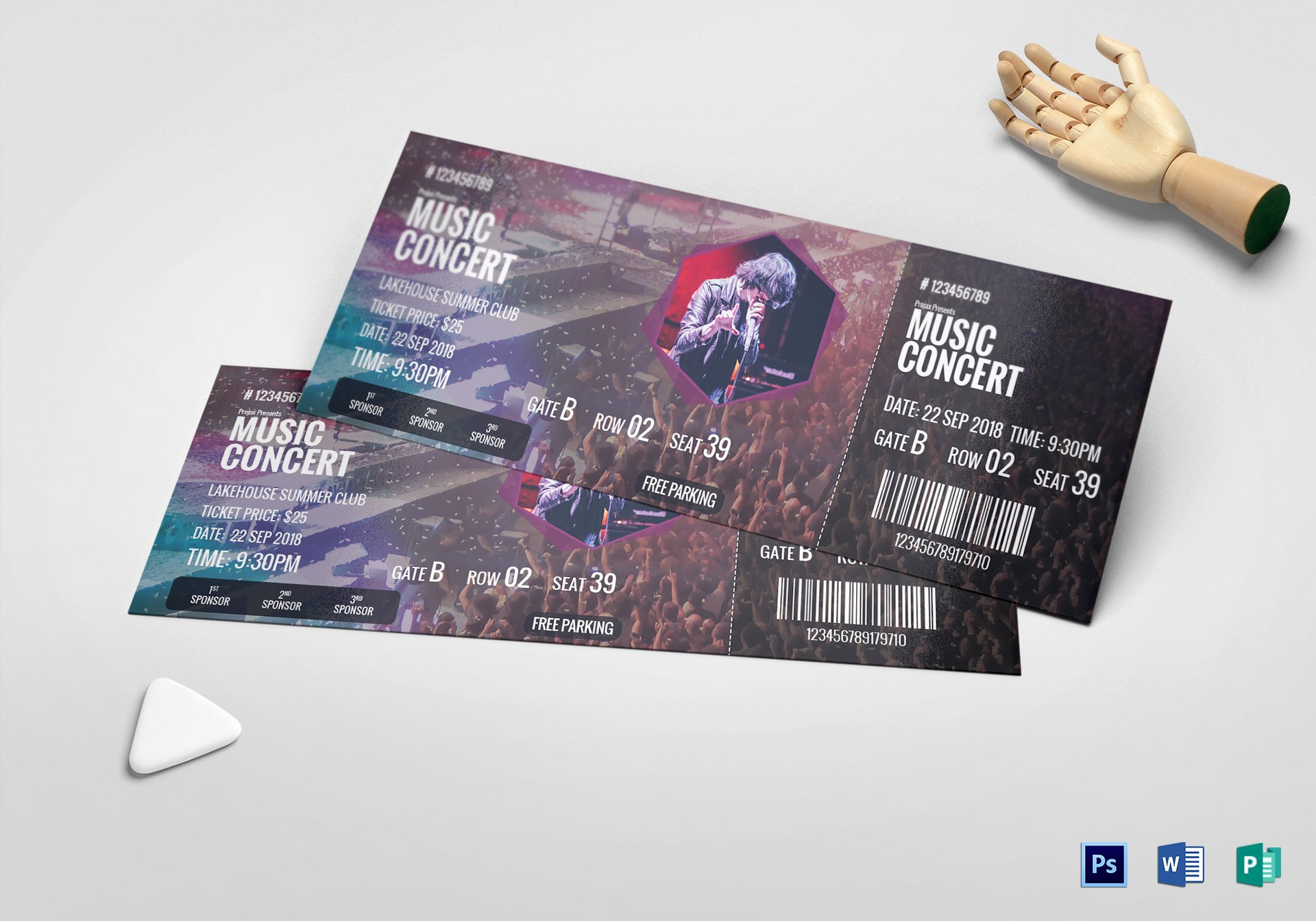 Concert Ticket Template Free Best Of Music Concert Ticket Design Template In Psd Word