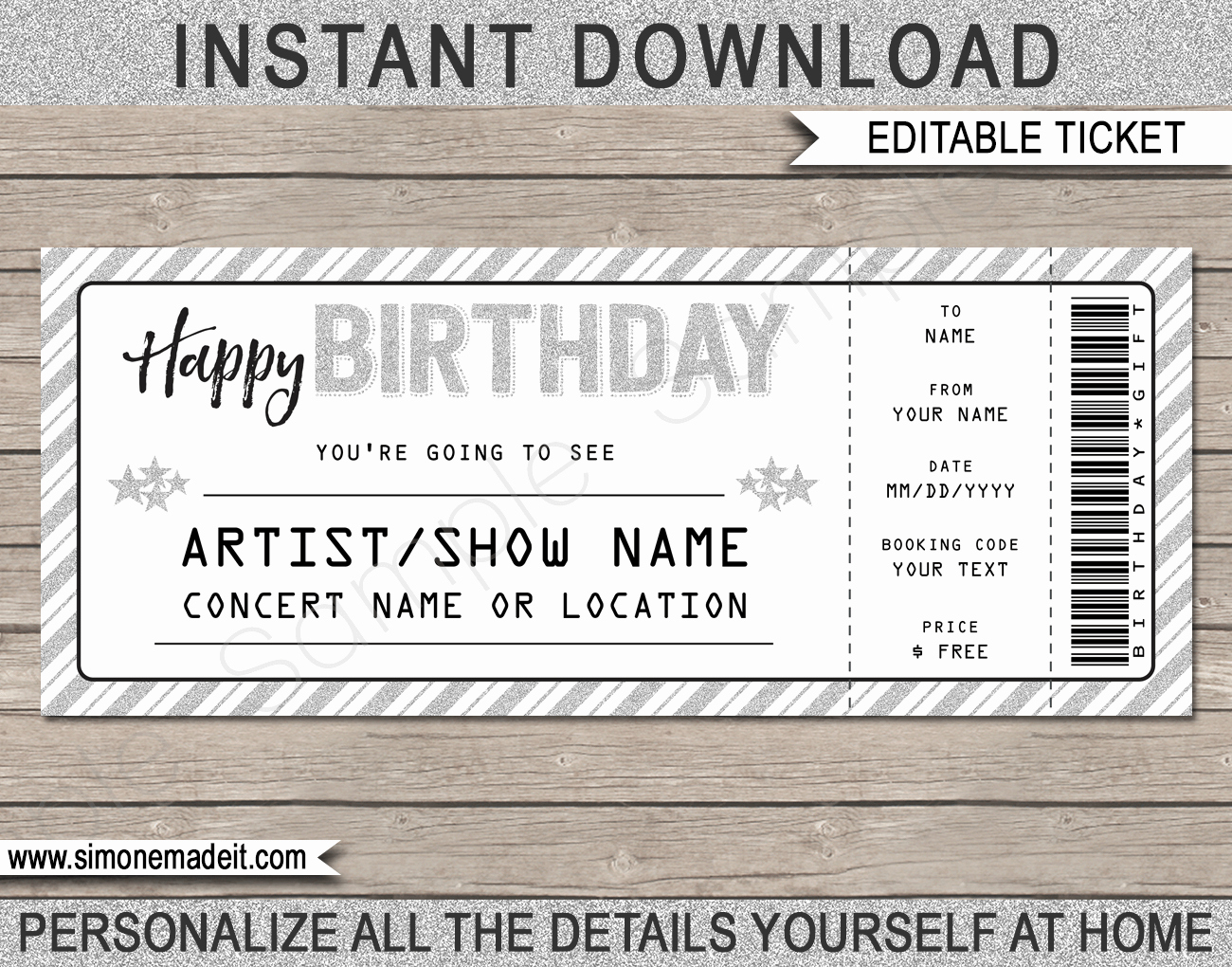 Concert Ticket Template Free Best Of Printable Concert Ticket Template