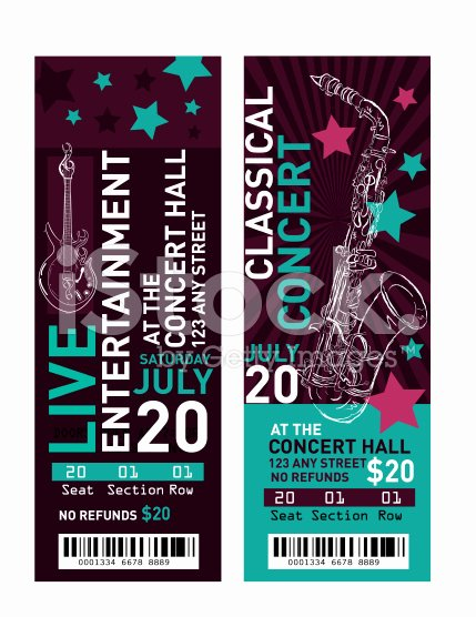 Concert Ticket Template Free Elegant 11 Concert Ticket Templates In Psd for Shop
