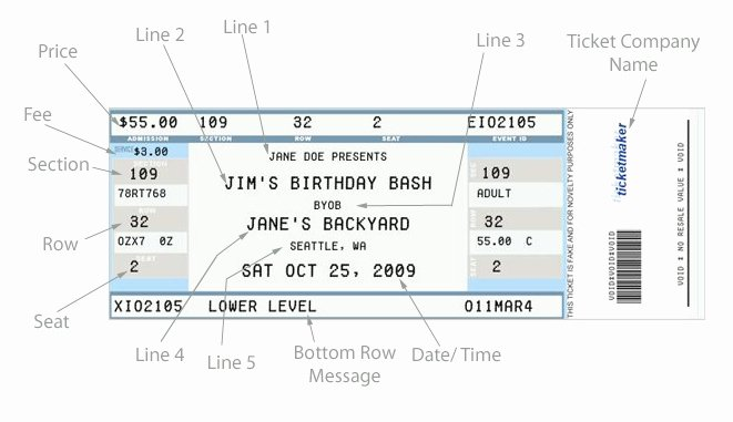 Concert Ticket Template Free Lovely Concert Ticket Template