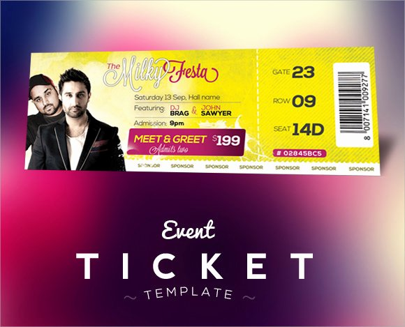 Concert Ticket Template Free New 34 Sample Concert Ticket Templates Psd Ai Eps Word