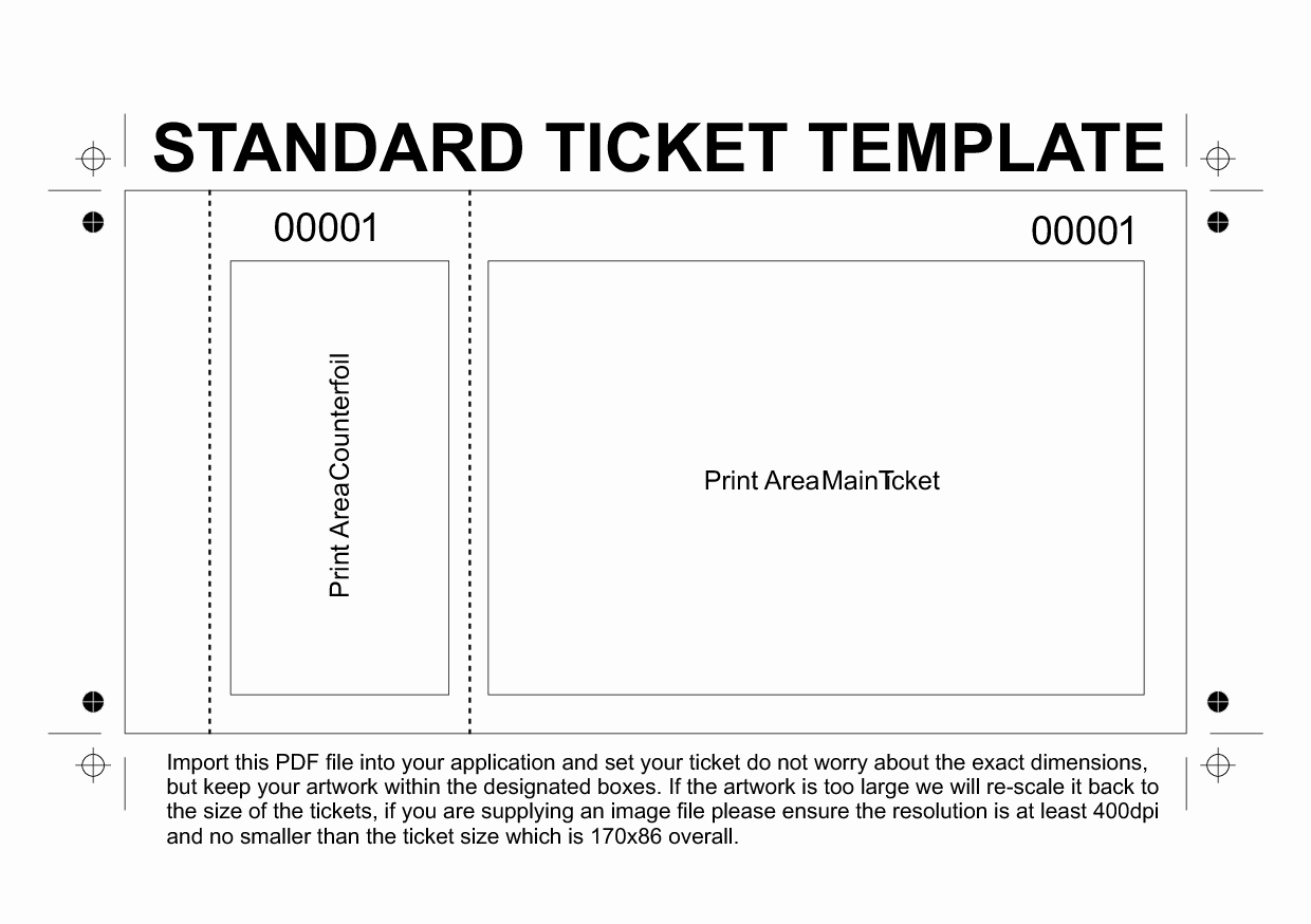 Concert Ticket Template Free New Template Printable Gallery Category Page 104