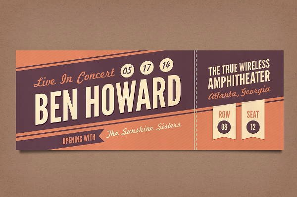 Concert Ticket Template Free Unique 14 Vintage Ticket Templates Psd Ai Word