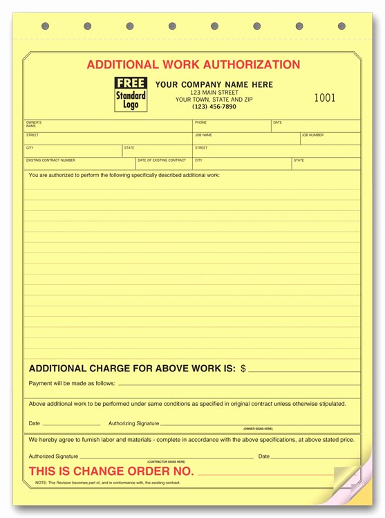 Construction Change order form Fresh Managing Change orders Remodeling Projects