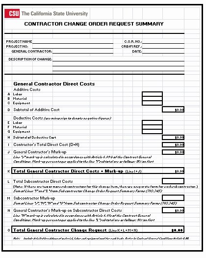 Construction Change order form Inspirational 3 Construction Change order Templates