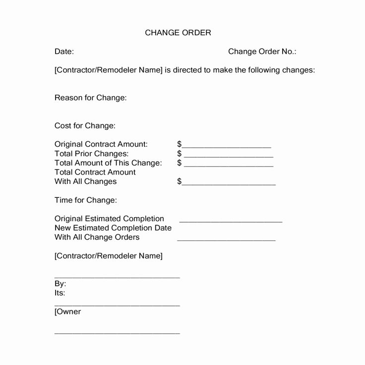 Construction Change order form Luxury Change orders During A Construction Project