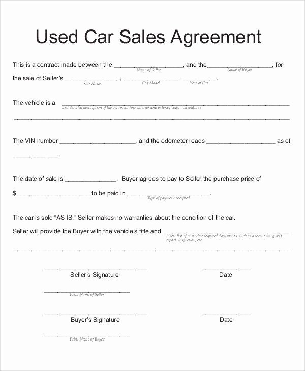 Contract for Selling A Car Beautiful 8 Car Sales Contract Samples & Templates In Pdf